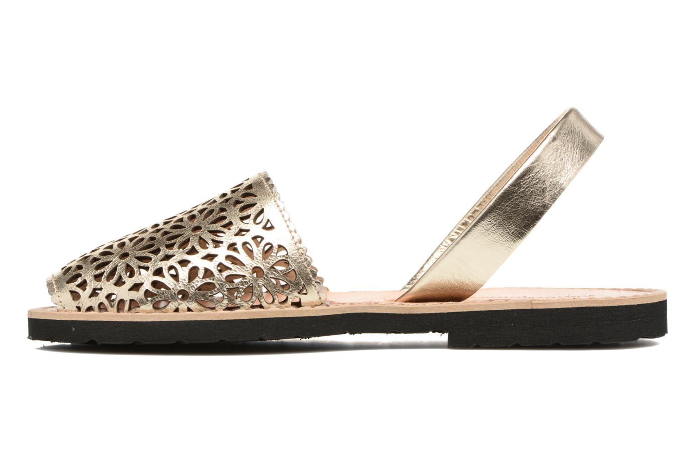 Sandales et nu-pieds MINORQUINES Avarca Or et bronze vue face