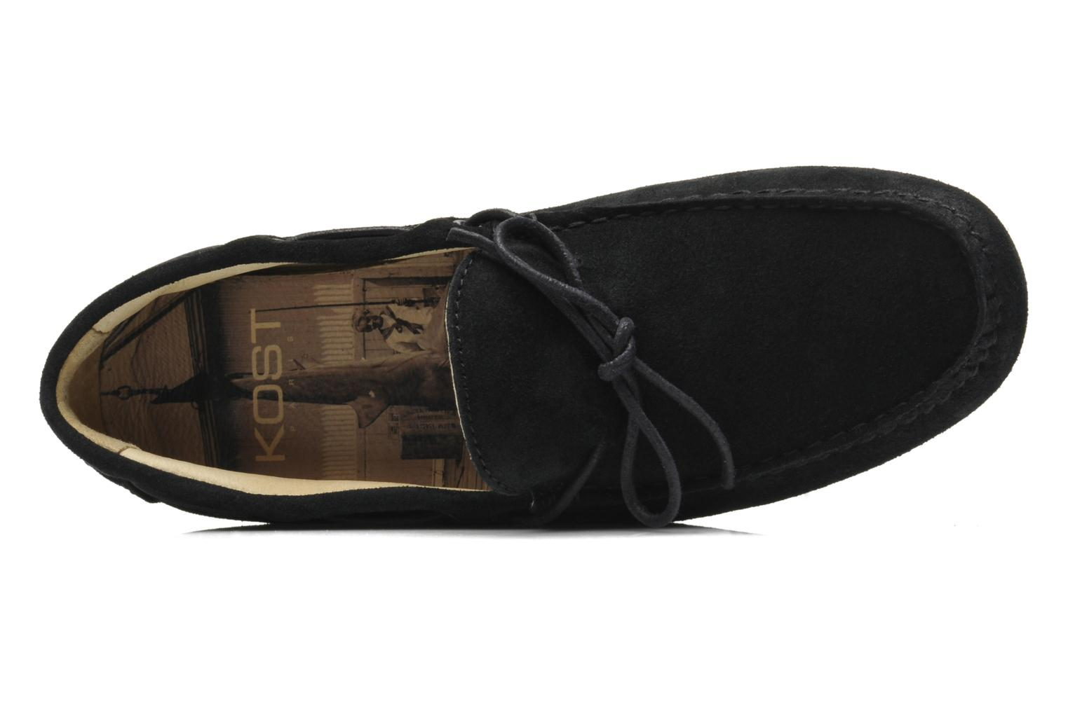 Loafers Kost Tapalo Black view from the left