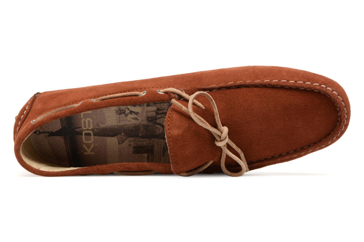 Loafers Kost Tapalo Brown view from the left