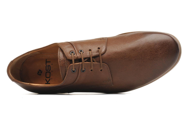 Chaussures à lacets Kost Fauchard47 Marron vue gauche