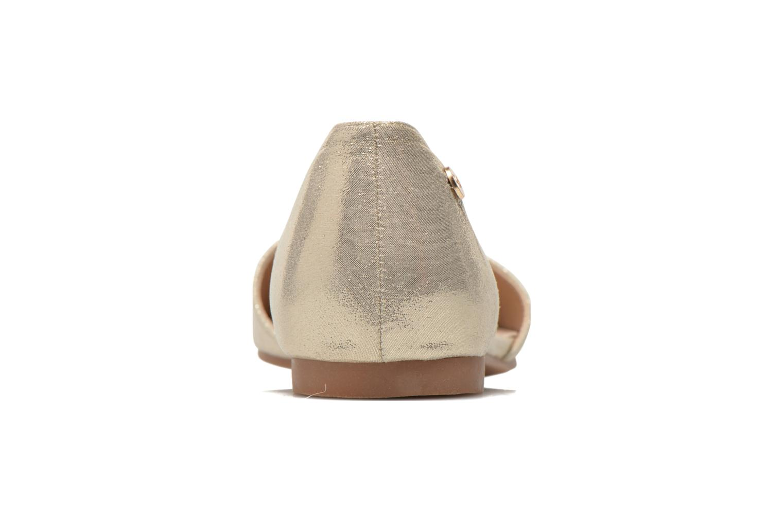 Ballet pumps Xti Cilu-27689 Bronze and Gold view from the right