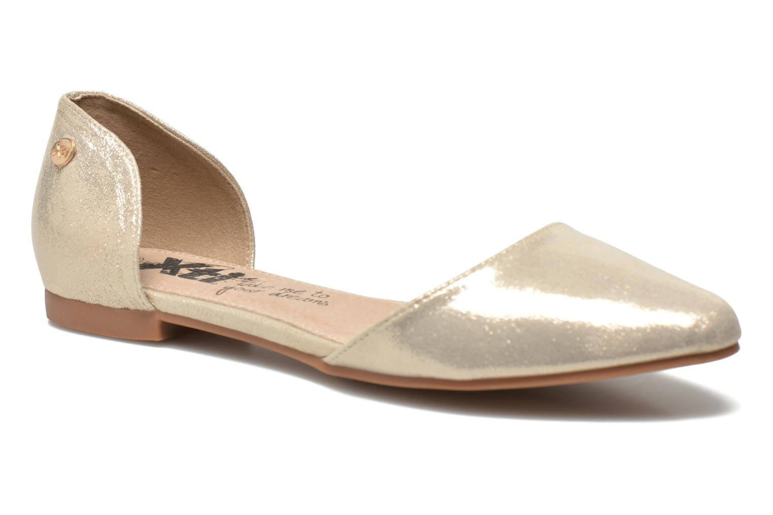 Ballet pumps Xti Cilu-27689 Bronze and Gold detailed view/ Pair view