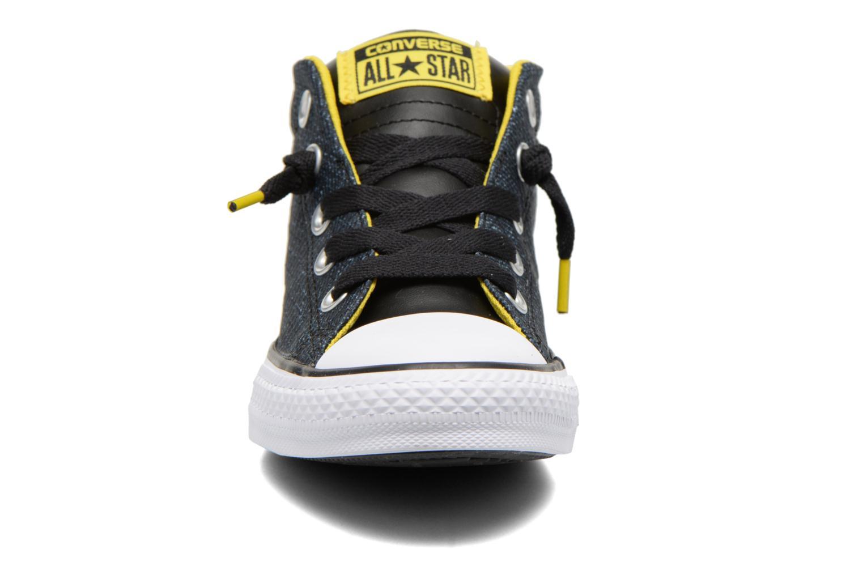 Baskets Converse Chuck Taylor All Star Street Mid Bleu vue portées chaussures