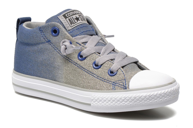 Baskets Converse Chuck Taylor All Star Street Mid Bleu vue détail/paire