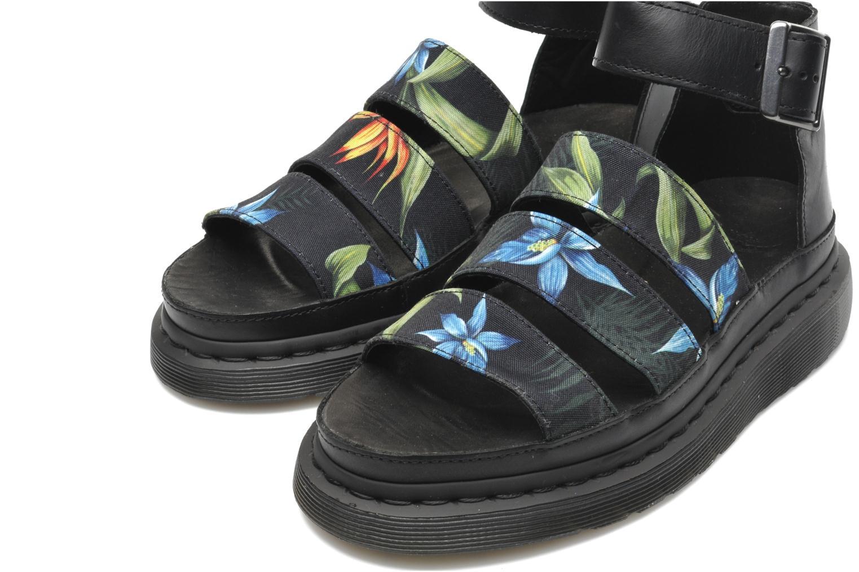 Clarissa Black hawaiian floral T canvas
