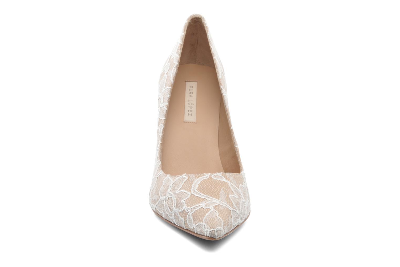 Escarpins Pura Lopez Escarpin mariée Beige vue portées chaussures