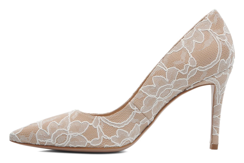 High heels Pura Lopez Escarpin mariée Beige front view