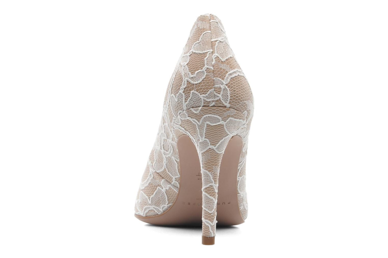 High heels Pura Lopez Escarpin mariée Beige view from the right