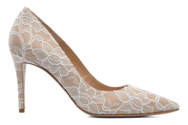 High heels Pura Lopez Escarpin mariée Beige back view
