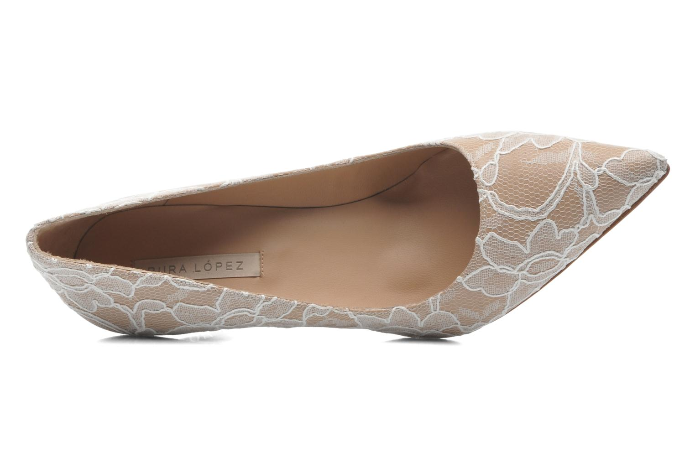 High heels Pura Lopez Escarpin mariée Beige view from the left