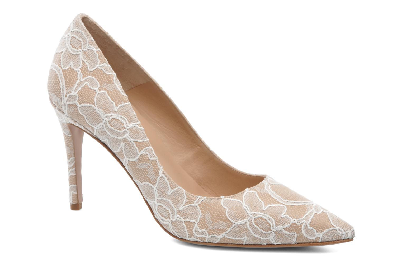 High heels Pura Lopez Escarpin mariée Beige detailed view/ Pair view