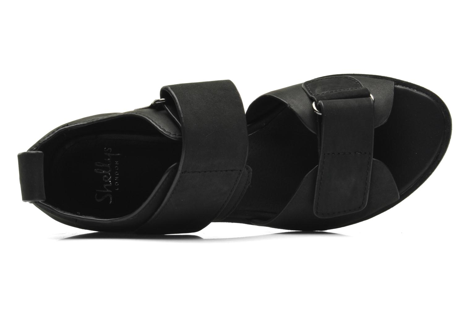 Sandals Shellys London Janko Black view from the left