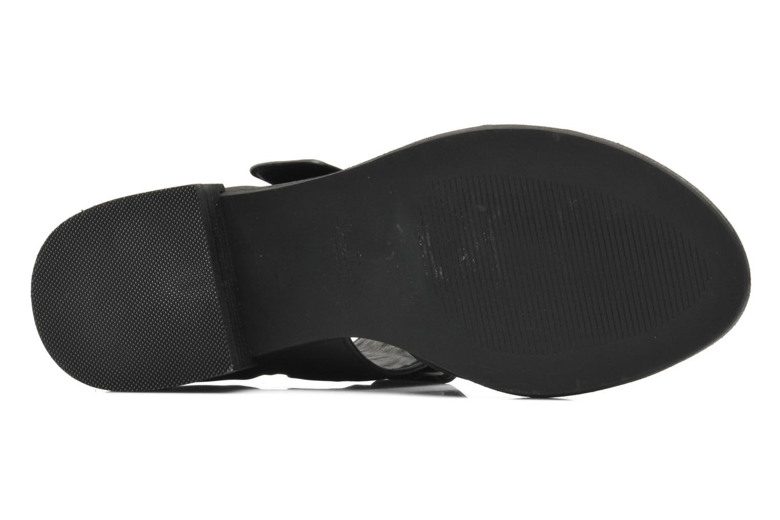 Sandals Shellys London Janko Black view from above