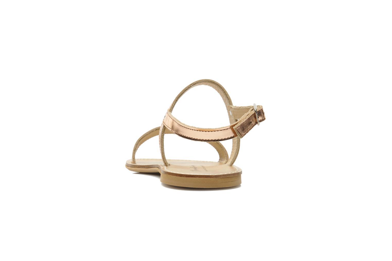Sandales et nu-pieds Manuela de Juan Helena Rose vue droite