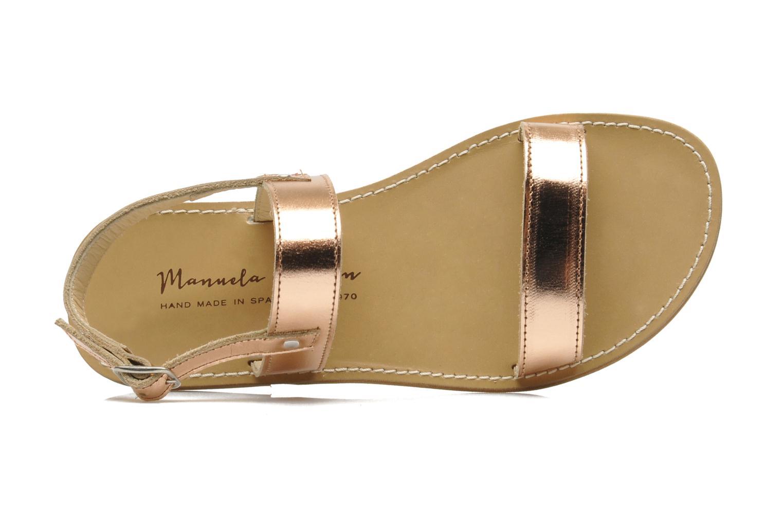 Sandales et nu-pieds Manuela de Juan Helena Rose vue gauche