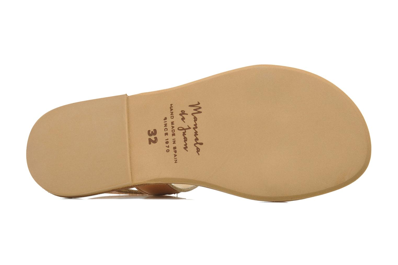 Sandales et nu-pieds Manuela de Juan Helena Rose vue haut