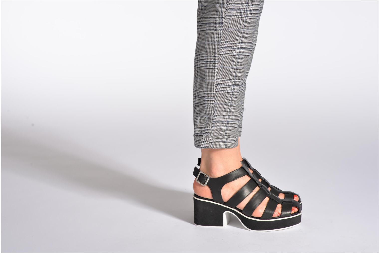 Sandalen Shellys London NYDILLA schwarz ansicht von unten / tasche getragen