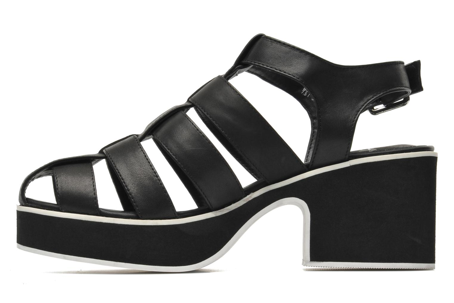 Sandals Shellys London NYDILLA Black front view