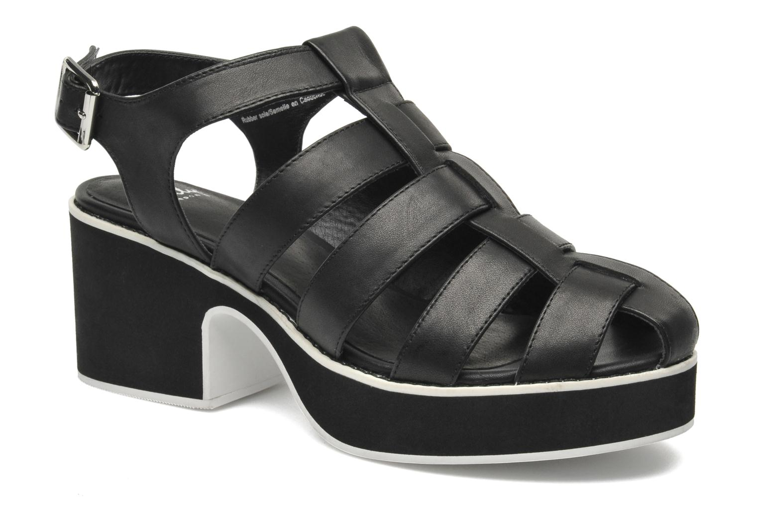 Sandals Shellys London NYDILLA Black detailed view/ Pair view