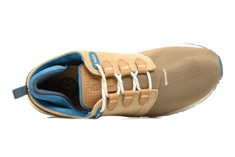 Sneaker Element Mitake beige ansicht von links