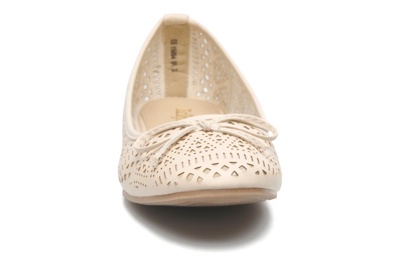 Ballerines Eclipse Ballerine Anita Beige vue portées chaussures