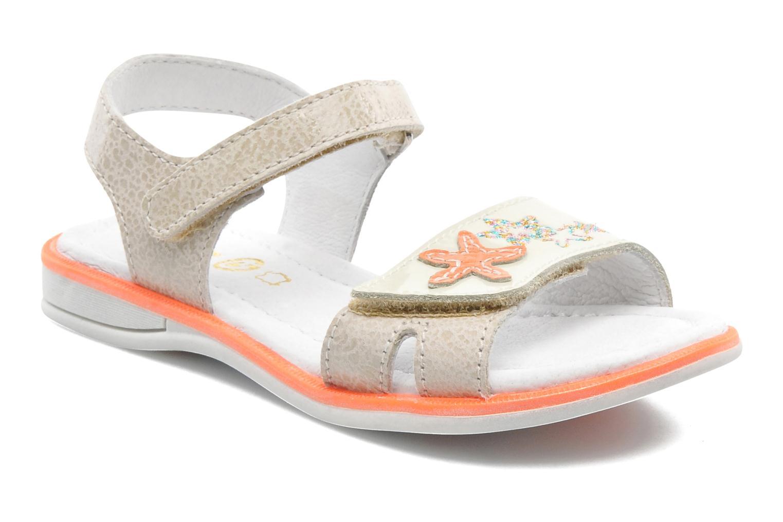 Sandales et nu-pieds GBB IRAIS Gris vue détail/paire