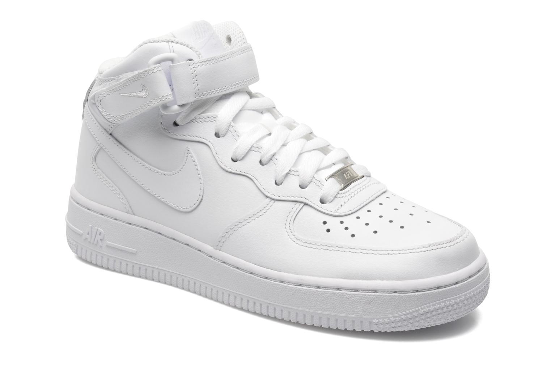 Baskets Nike Wmns Air Force 1 Mid '07 Le Blanc vue détail/paire