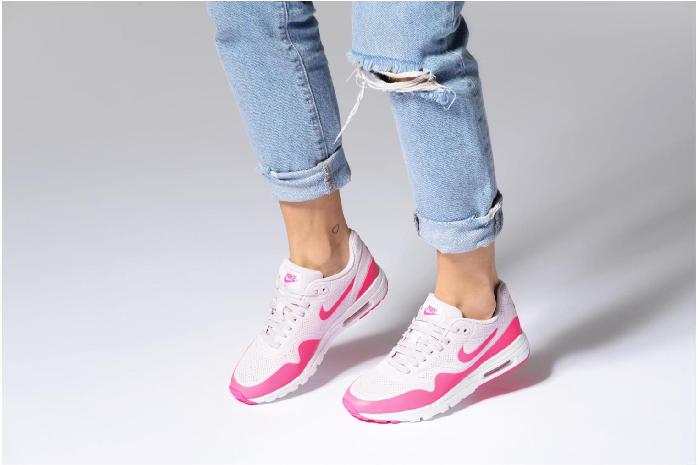 Baskets Nike Wmns Air Max 1 Ultra Moire Bleu vue bas / vue portée sac