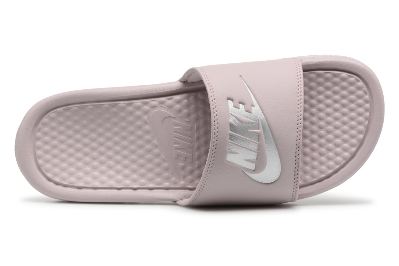 Zuecos Nike Wmns Benassi Jdi Rosa vista lateral izquierda