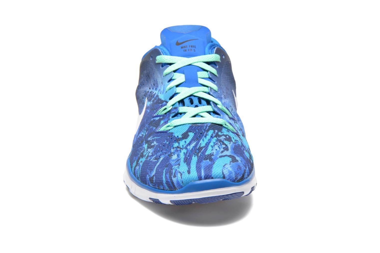 Chaussures de sport Nike Wmns Nike Free 5.0 Tr Fit 5 Prt Bleu vue portées chaussures