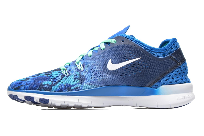Sportschuhe Nike Wmns Nike Free 5.0 Tr Fit 5 Prt blau ansicht von vorne
