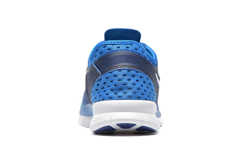 Sportschuhe Nike Wmns Nike Free 5.0 Tr Fit 5 Prt blau ansicht von rechts