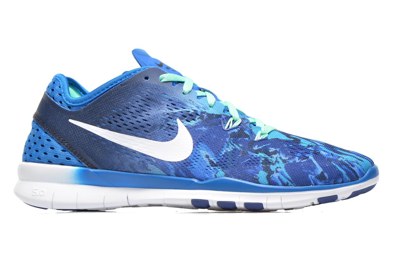 Sportschuhe Nike Wmns Nike Free 5.0 Tr Fit 5 Prt blau ansicht von hinten