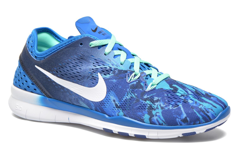 Chaussures de sport Nike Wmns Nike Free 5.0 Tr Fit 5 Prt Bleu vue détail/paire