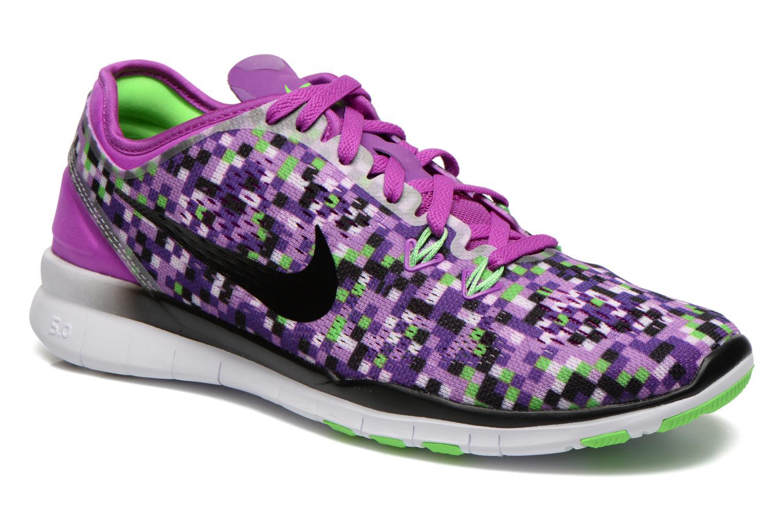 Wmns Nike Free 5.0 Tr Fit 5 Prt Vivid Purple/Black-Vltg Green
