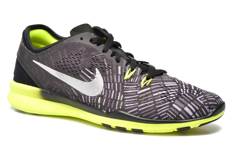 Wmns Nike Free 5.0 Tr Fit 5 Prt Black/Metallic Silver-Volt