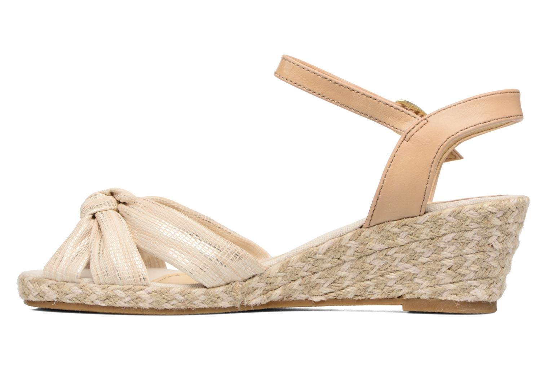 Sandales et nu-pieds Dockers Jekky Or et bronze vue face
