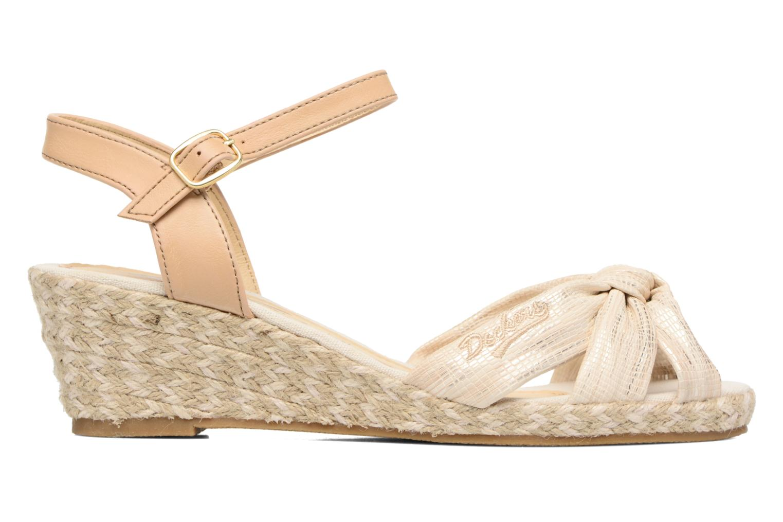 Sandales et nu-pieds Dockers Jekky Or et bronze vue derrière