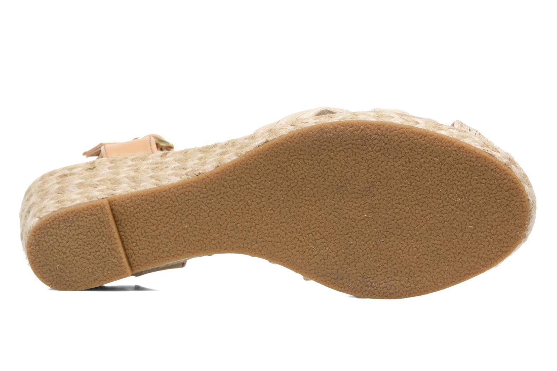 Sandales et nu-pieds Dockers Jekky Or et bronze vue haut