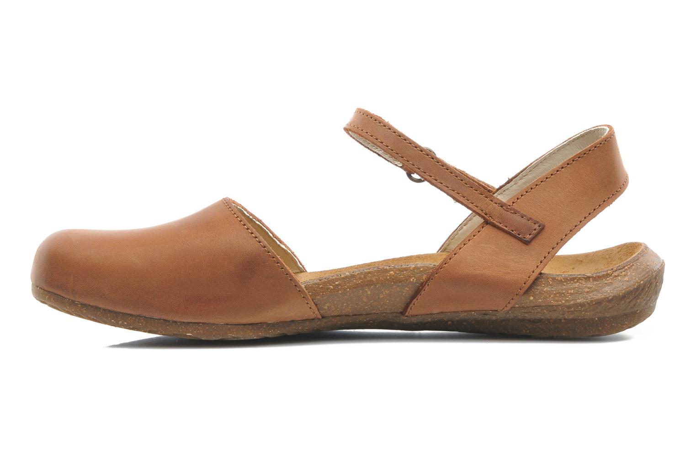 Sandales et nu-pieds El Naturalista Wakataua N412 Marron vue face