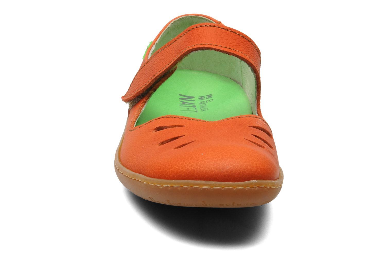 Ballerines El Naturalista Viajero N249 Orange vue portées chaussures