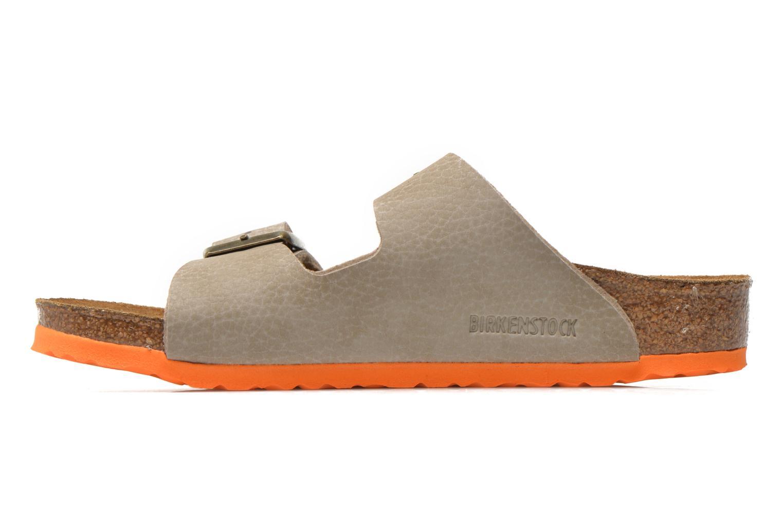 Sandals Birkenstock Arizona Birko-Flor Grey front view