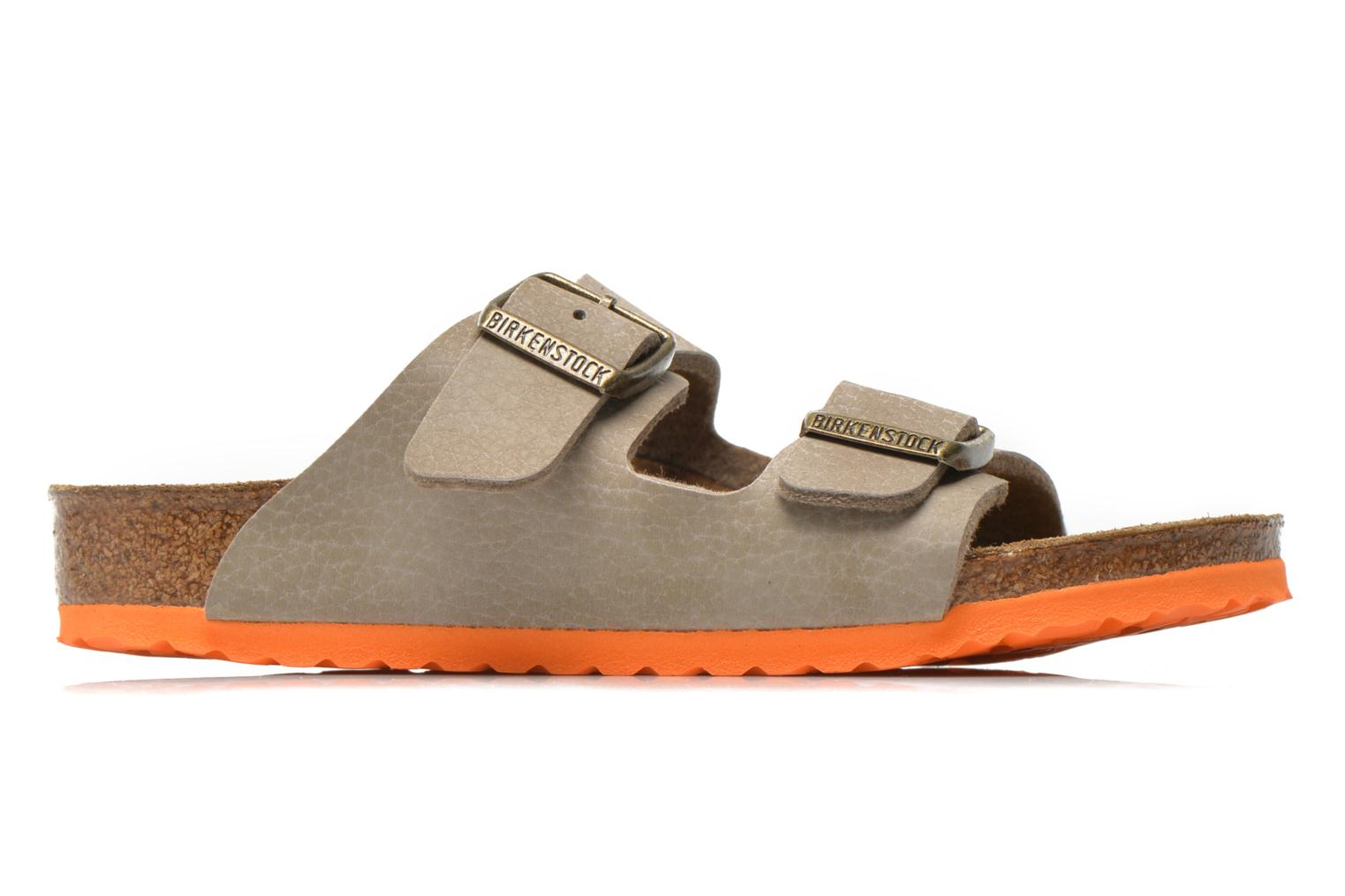Sandals Birkenstock Arizona Birko-Flor Grey back view