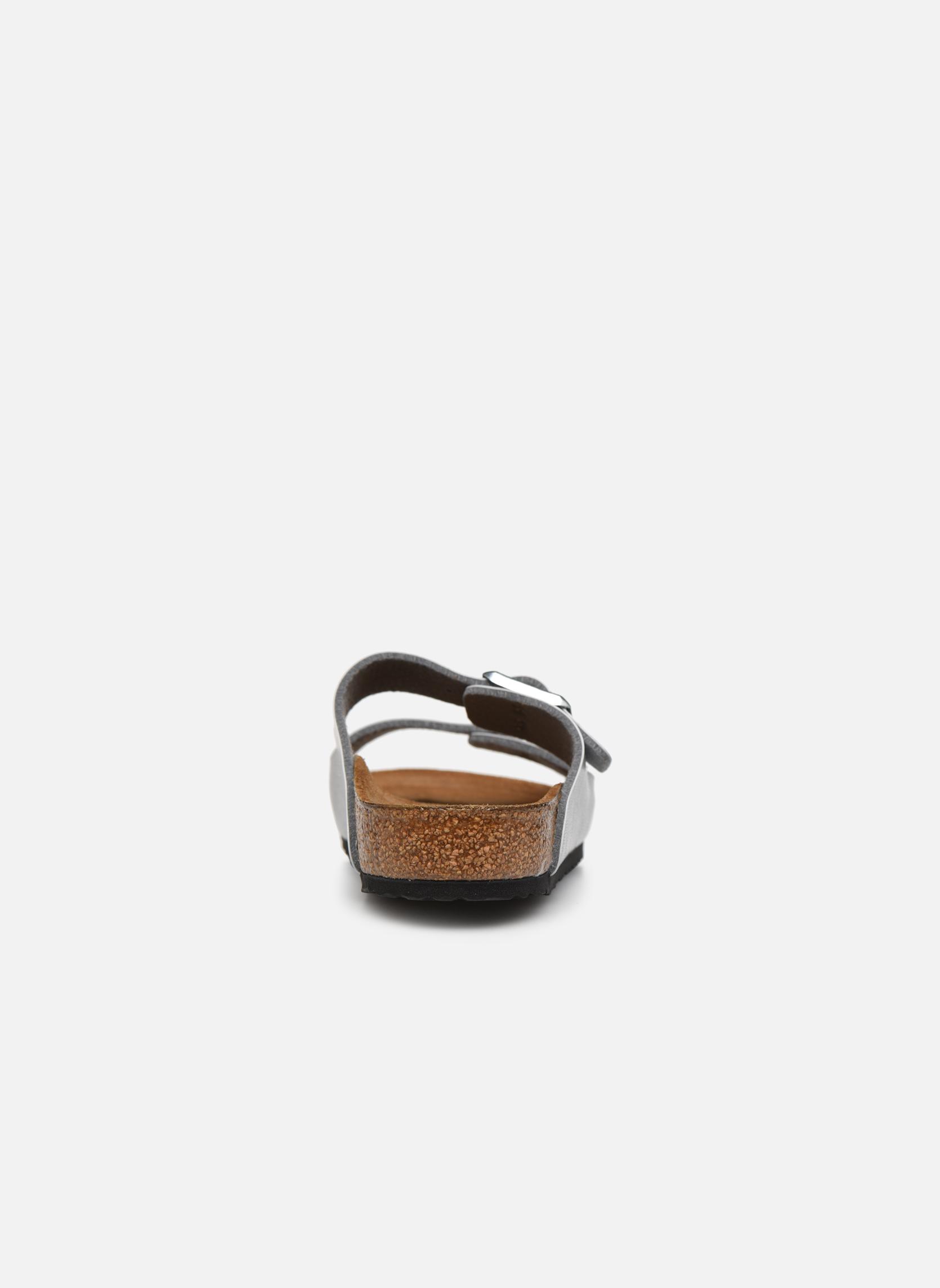Sandalen Birkenstock Arizona Birko-Flor silber ansicht von rechts