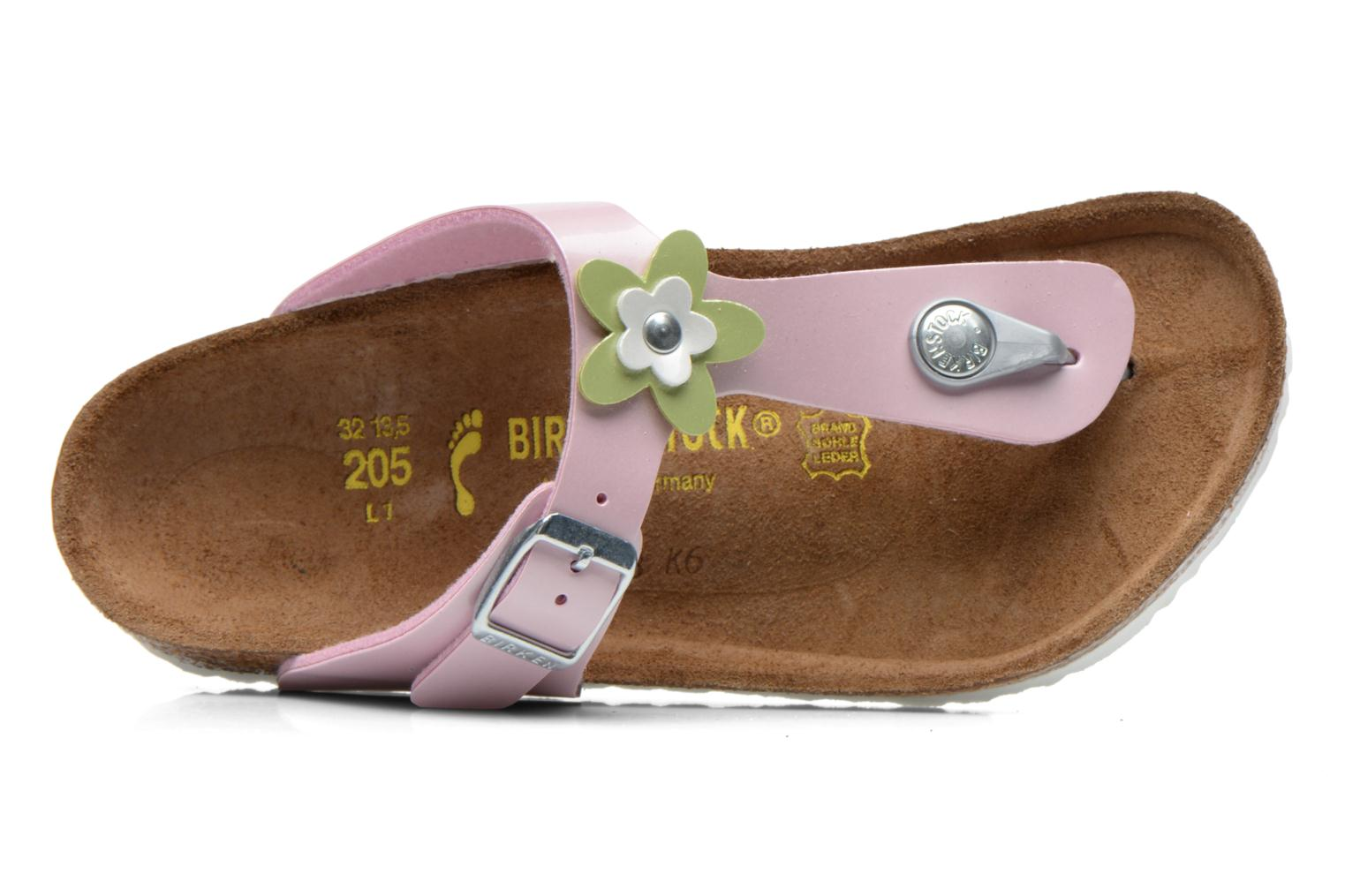 Flip flops Birkenstock GIZEH FLOWER Pink view from the left
