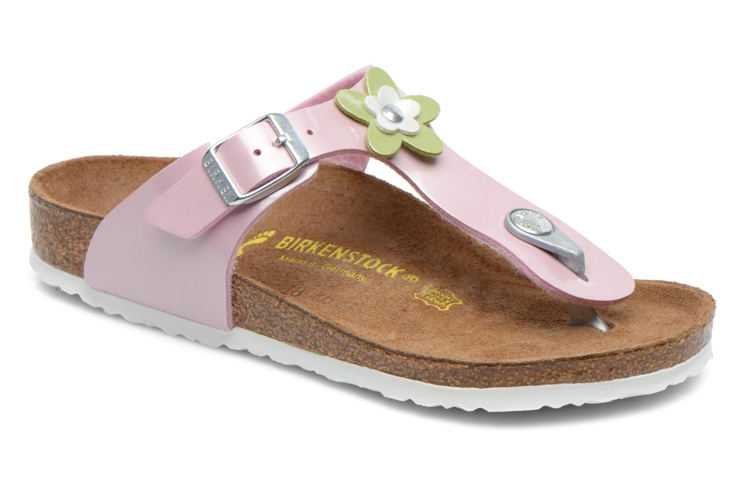 Flip flops Birkenstock GIZEH FLOWER Pink detailed view/ Pair view
