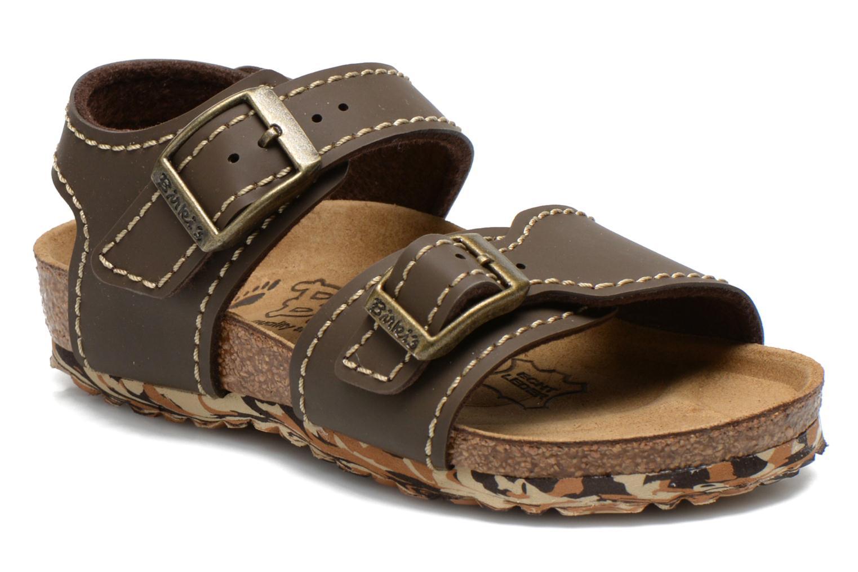 Sandales et nu-pieds Birkenstock NEW YORK Marron vue détail/paire