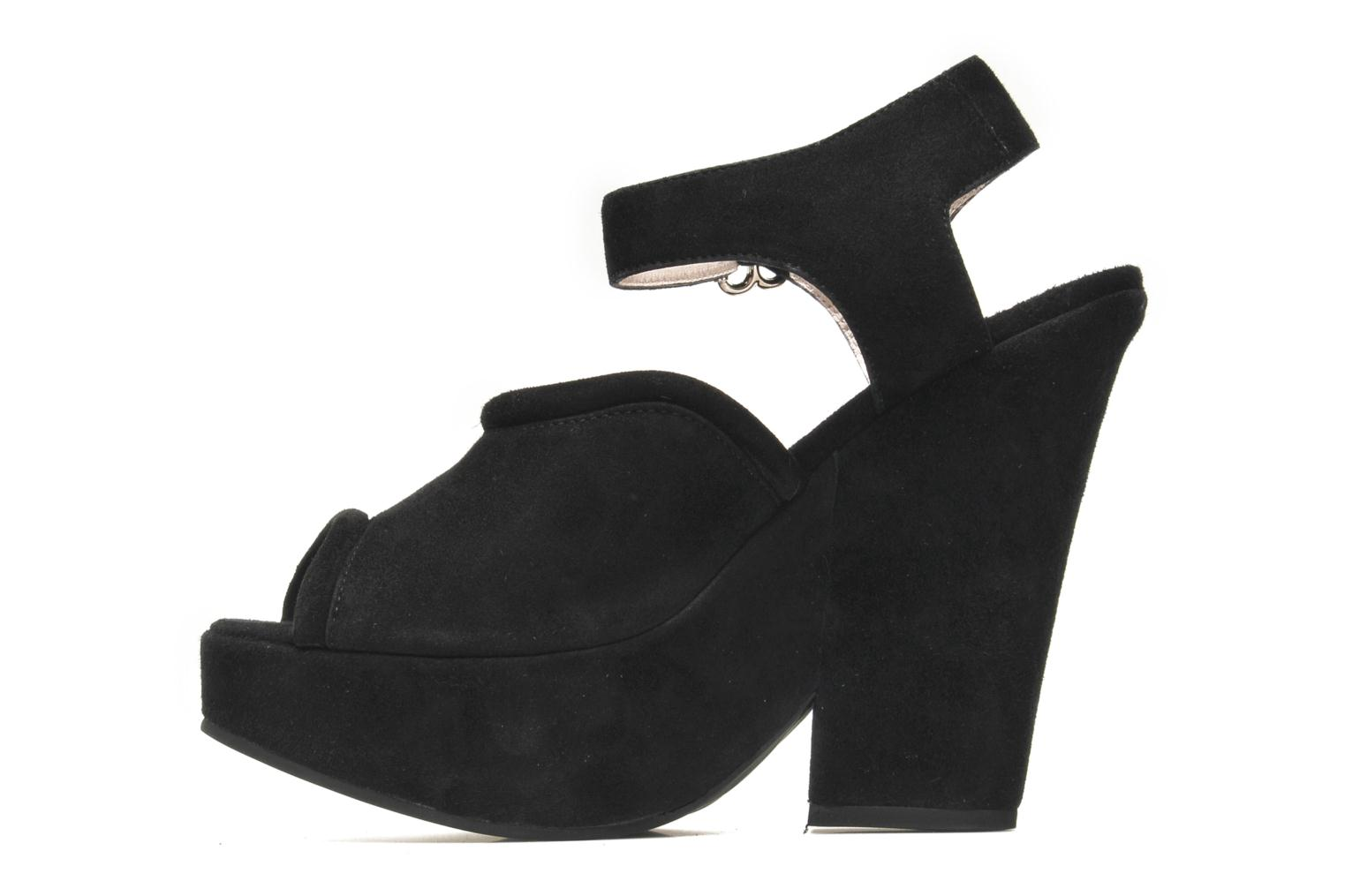 Sandals Carven Gabrielly Black front view