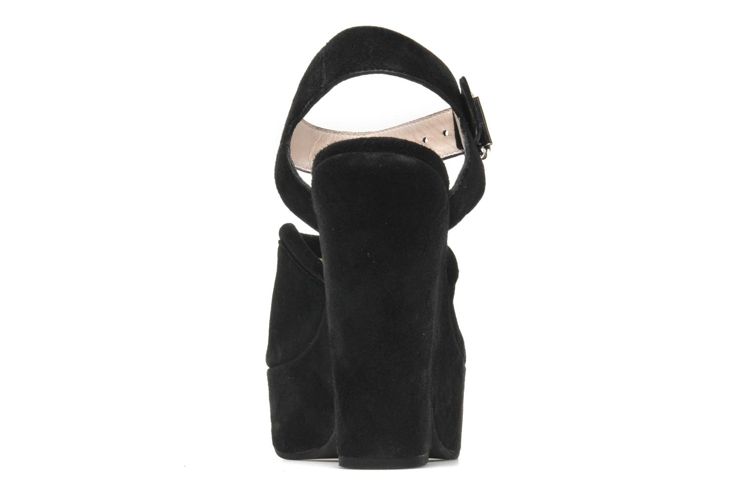 Sandals Carven Gabrielly Black view from the right