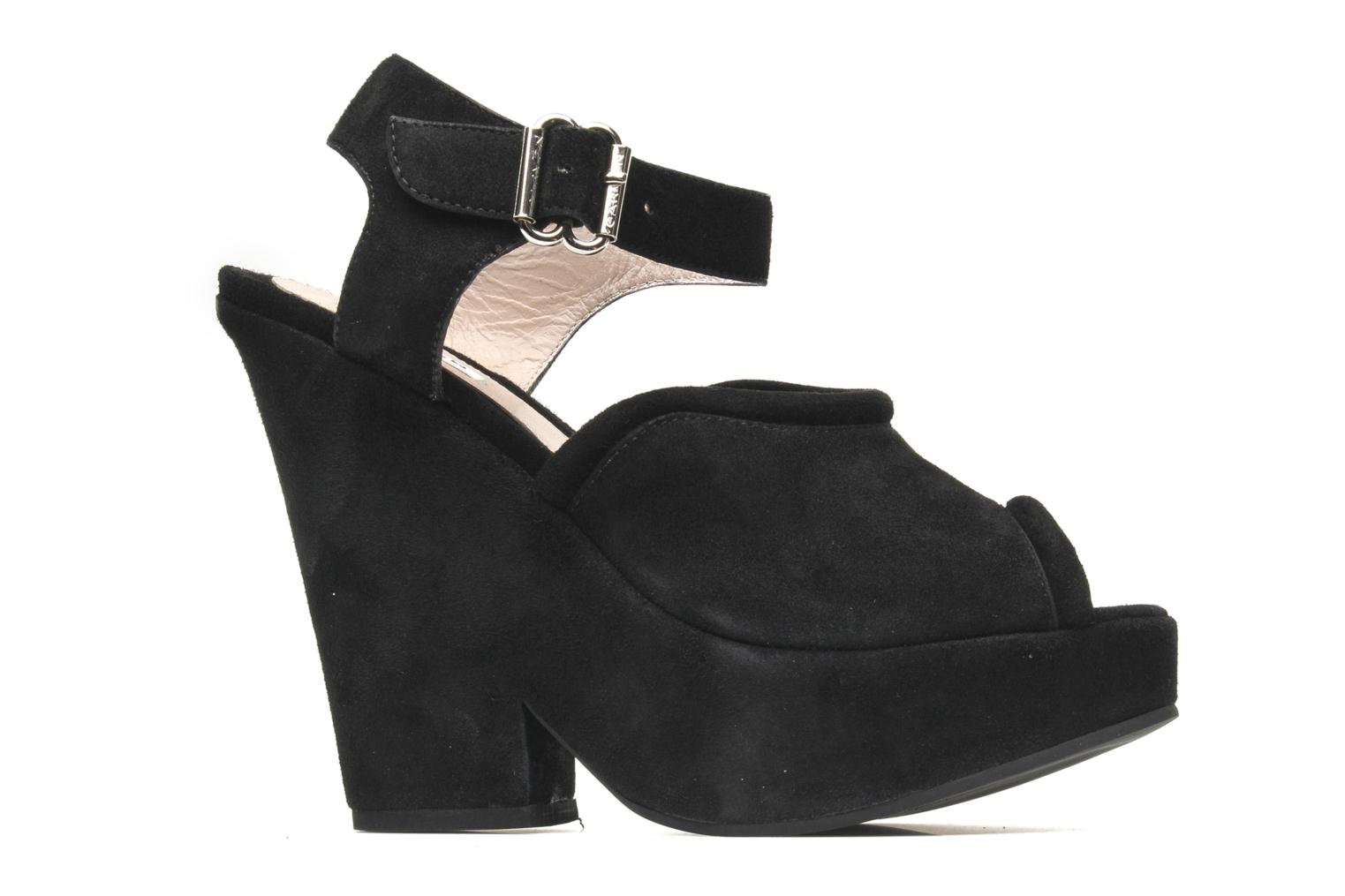 Sandals Carven Gabrielly Black back view